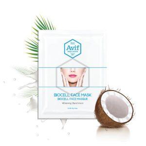 Mặt Nạ Dưỡng Trắng Da Avif Biocell Whitening Face Mask